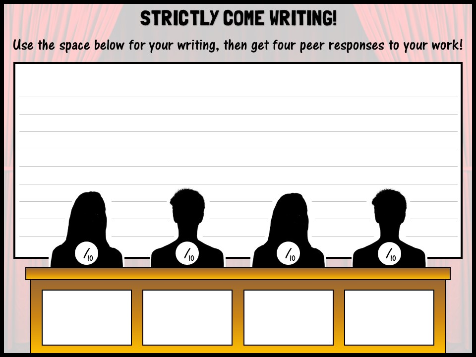 Strictly come writing!