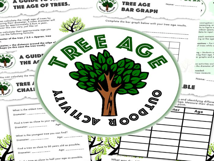 Tree Age Investigation - Measuring - Outdoor Math Activity