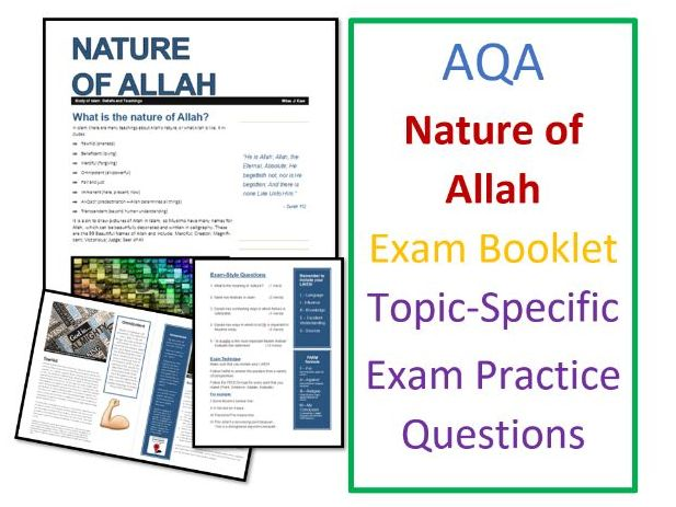 AQA Islam Beliefs: Nature of Allah Exam Booklet