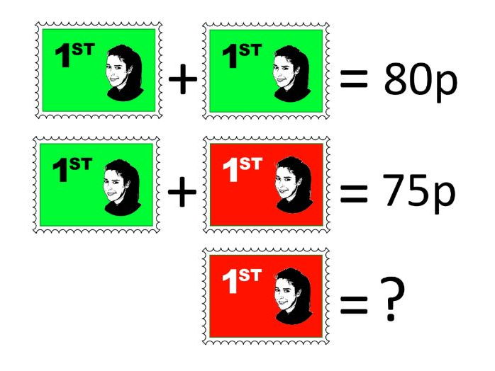 Maths KS2 and above.  Visual problems for number problems.