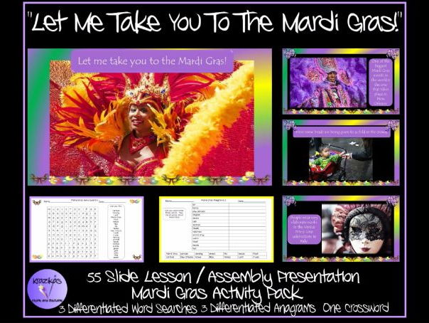 Mardi Gras Lesson / Assembly Presentation and Activity Pack