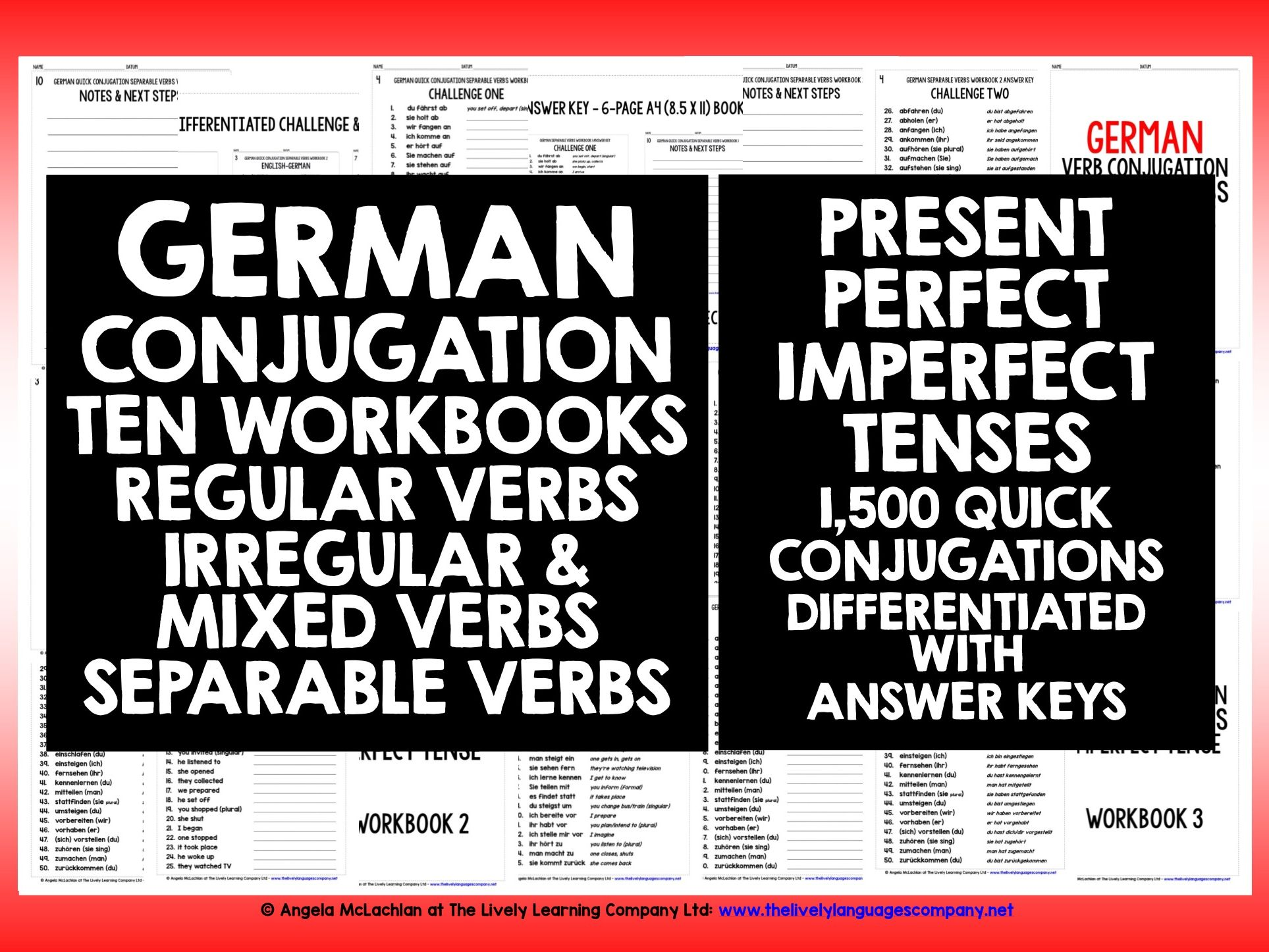 GERMAN VERBS CONJUGATION REVISION #1