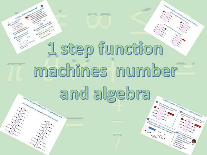 Function machines 1 step number and algebra