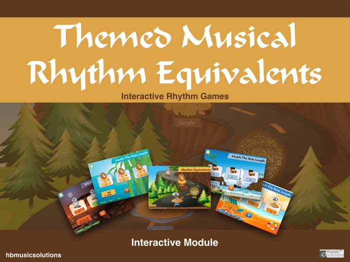 Musical Themed Rhythm Equivalent Note Values - Interactive Music Game