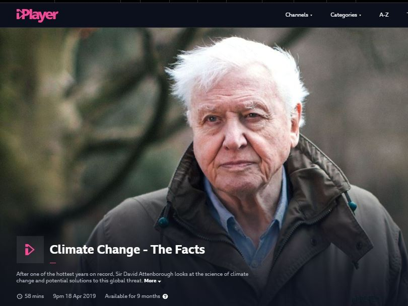 Climate Change - The Facts Question Sheet