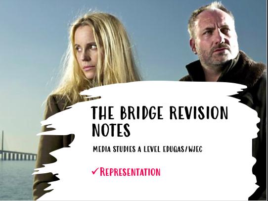 WJEC/EDUQAS TV THE BRIDGE - REPRESENTATION NOTES