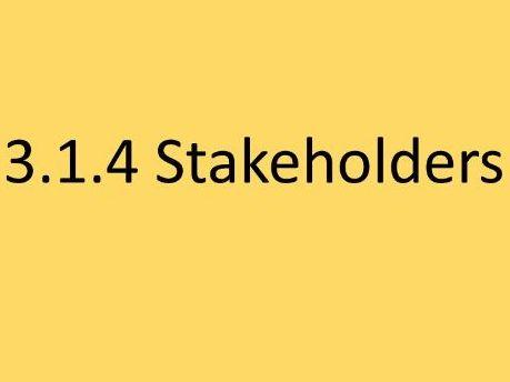 3.1.4 Stakeholders AQA GCSE Business (9-1)