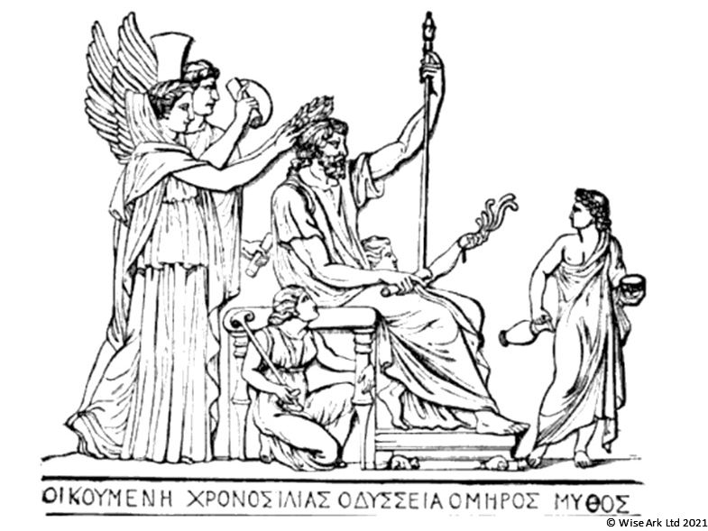 Ancient Greeks colouring pages 1: Gods, religion and home life