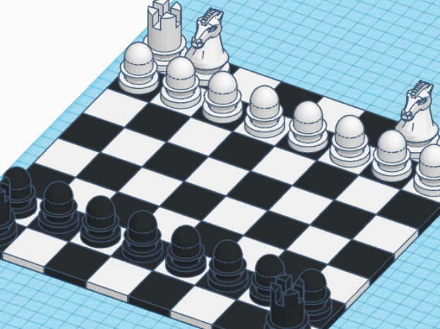 KS2 KS3 Computer Aided Design task - Chess Pieces