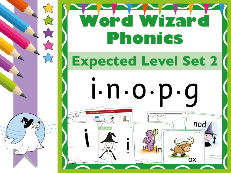 Word Wizard Phonics Expected Set 2: i.n.o.p.g