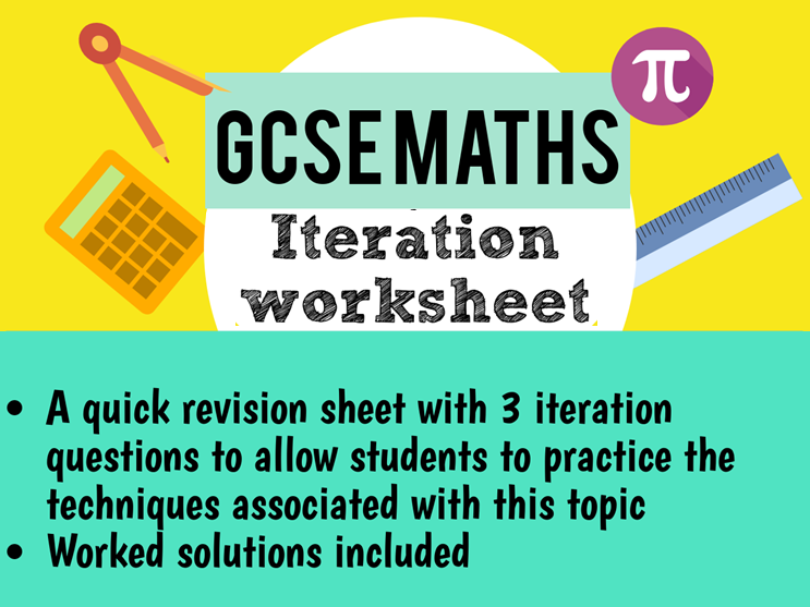 Maths GCSE iteration worksheet