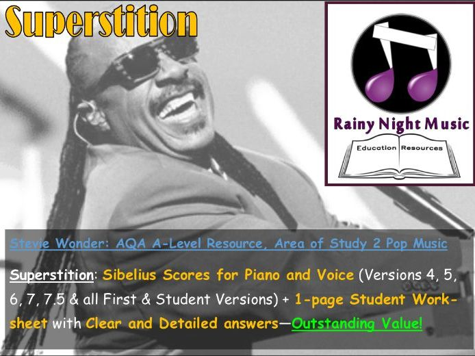 STEVIE WONDER SUPERSTITION Teaching and Learning Pack AQA A Level Music Area of Study 2