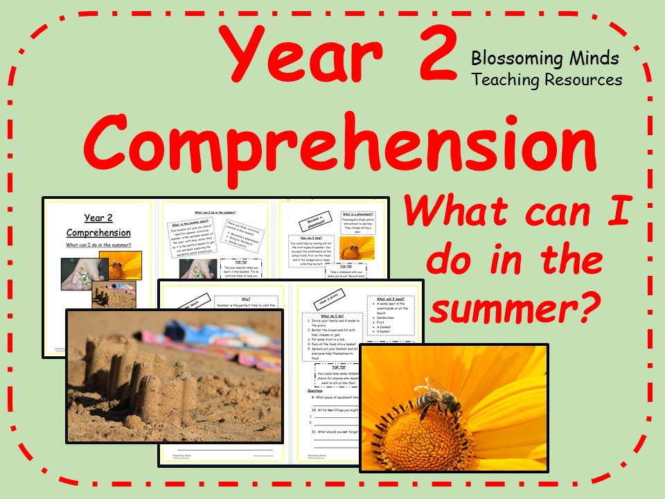 Year 2 non-fiction comprehension - What to do in the summer