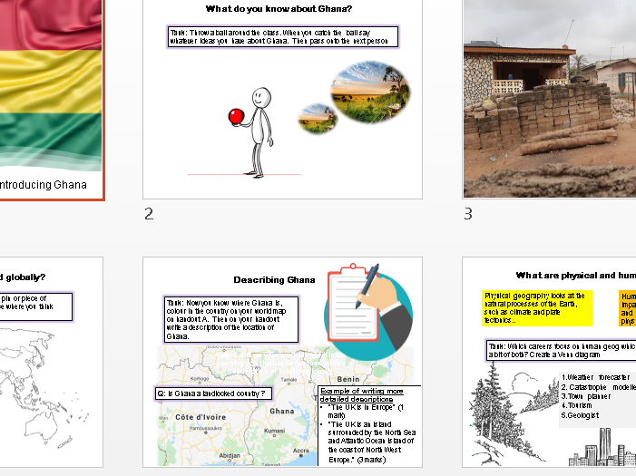Ghana KS3 Geography (5 lessons + assessment/MS + SOW)