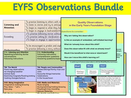 EYFS Observations - Teacher Tools Bundle