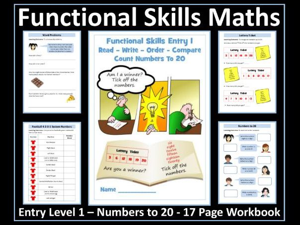 Functional Skills Maths - Entry Level 1 - Numbers to 20