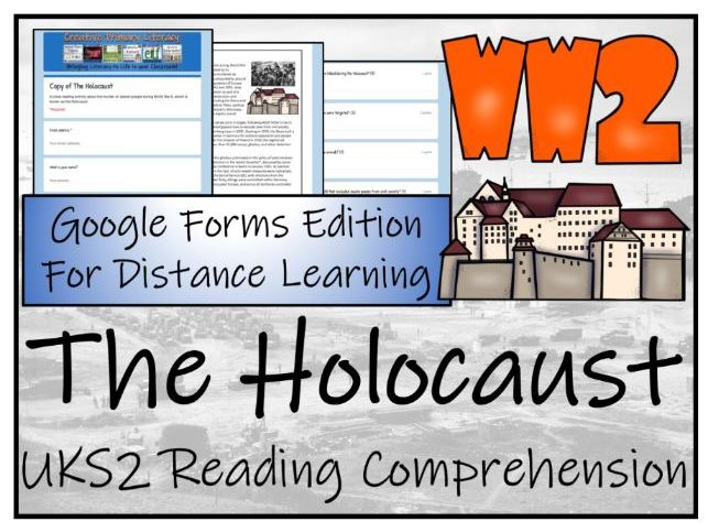 UKS2 The Holocaust Reading Comprehension & Distance Learning Activity