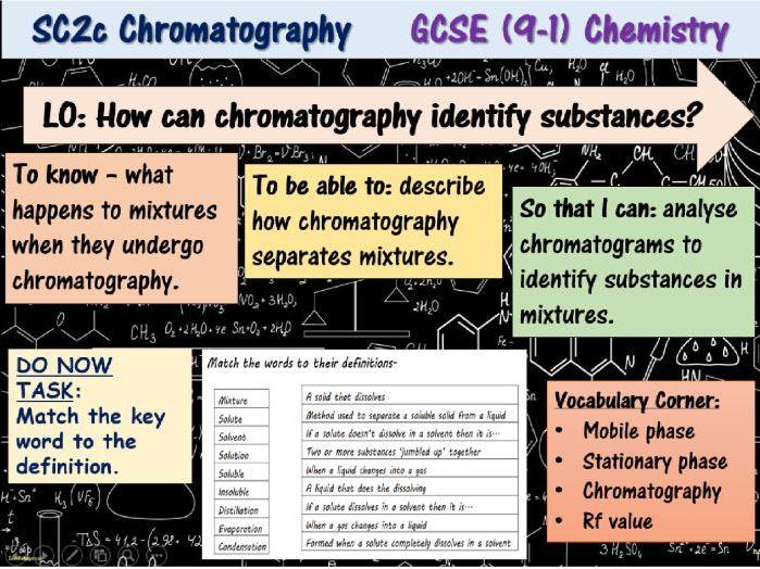 Chromatography GCSE (9-1) Chemistry