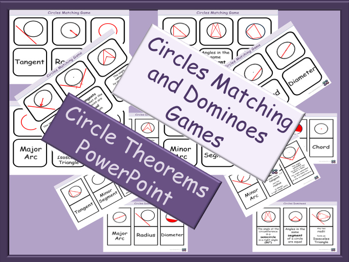BUNDLE - Circles Games + Circle Theorems PowerPoint - GCSE