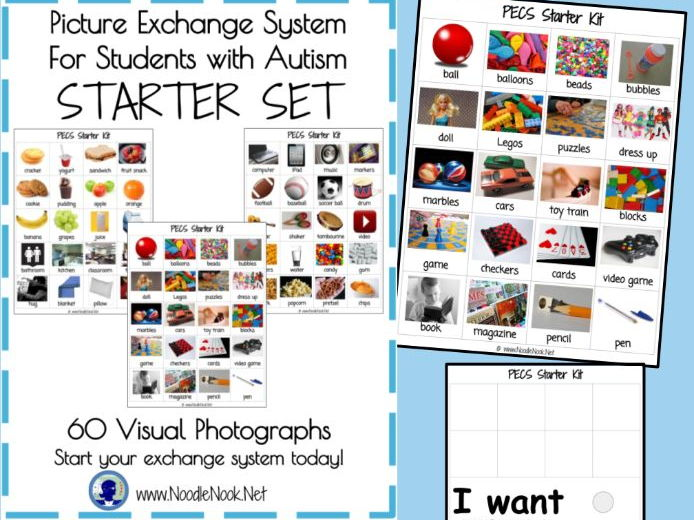 photo relating to Picture Cards for Autism Printable known as PECS Beginner Package for Pupils with Autism- Printable and Well prepared in direction of Shift!
