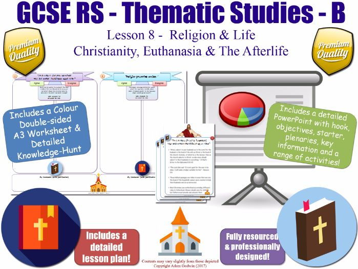 Christianity, Euthanasia & The Afterlife [GCSE RS - Religion & Life L8/10]