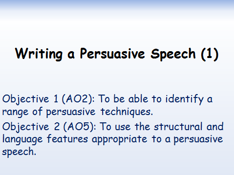 The Voice: Persuade a judge to take you on their team. Persuasive Speech Writing