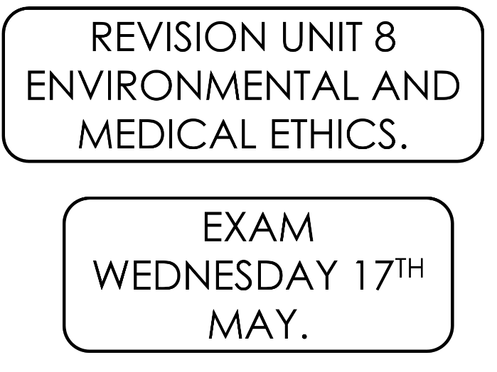 Religious Studies Unit 8 Environmental and Medical Ethics Revision