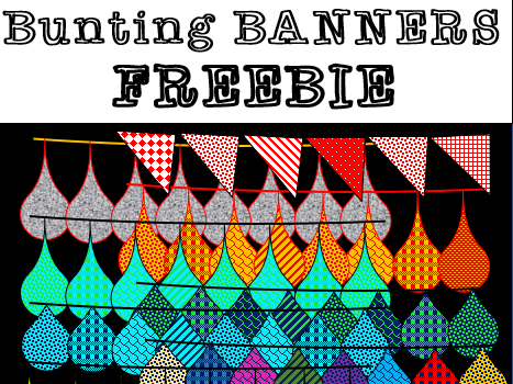 Bunting Banners and Doodles FREEBIE (BY THE HOUSE OF EDUCATION)
