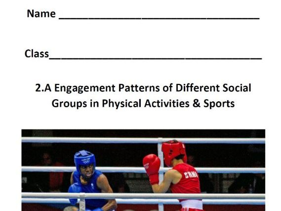 OCR NEW 9-1 GCSE PE. 1.A Engagement Patterns. Pupil Workbook & Answer Booklet.
