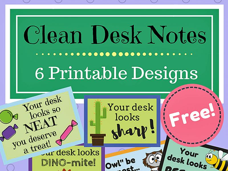 Clean Desk Notes-- FREEBIE!