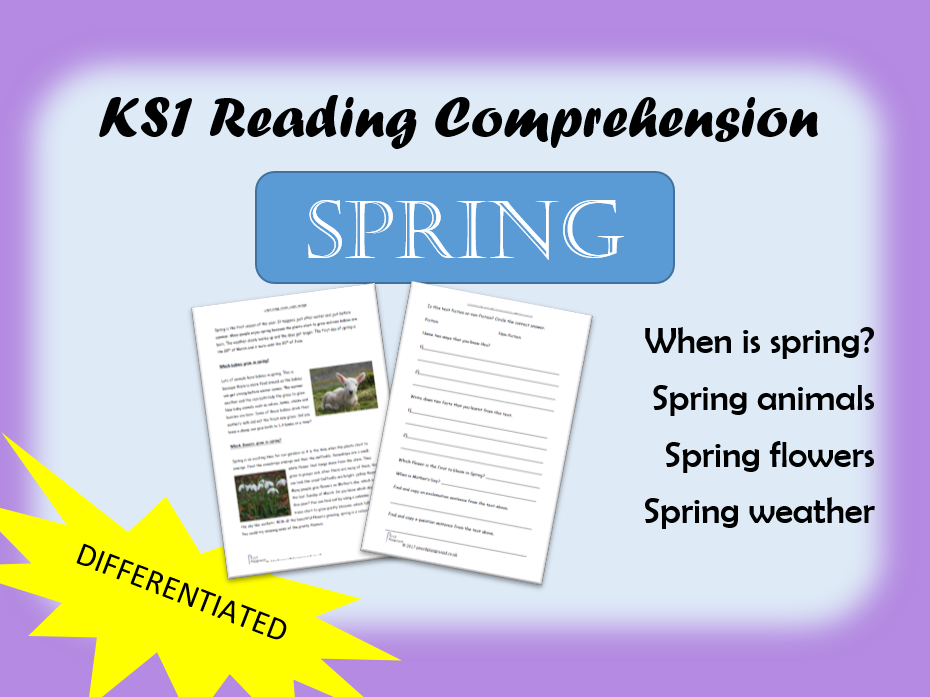 Spring Non fiction differentiated Reading Comprehension