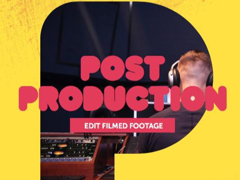 Post-Production 1: Edit Filmed Footage