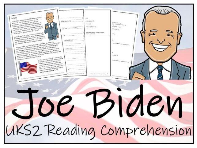 UKS2 - Joe Biden Reading Comprehension Activity