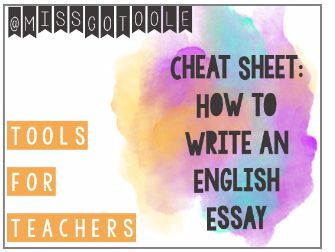 How to Write an English Essay - Cheat Sheet