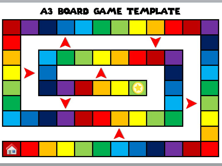 A3 Board Game Template [Fully Editable]