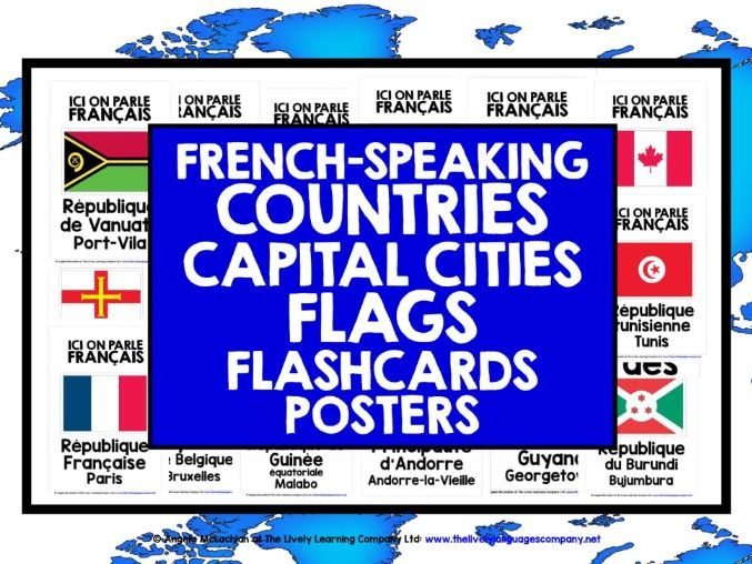 FRENCH-SPEAKING COUNTRIES FLASHCARDS POSTERS