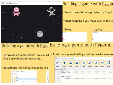 Python Pygame zero - Mu -building a game