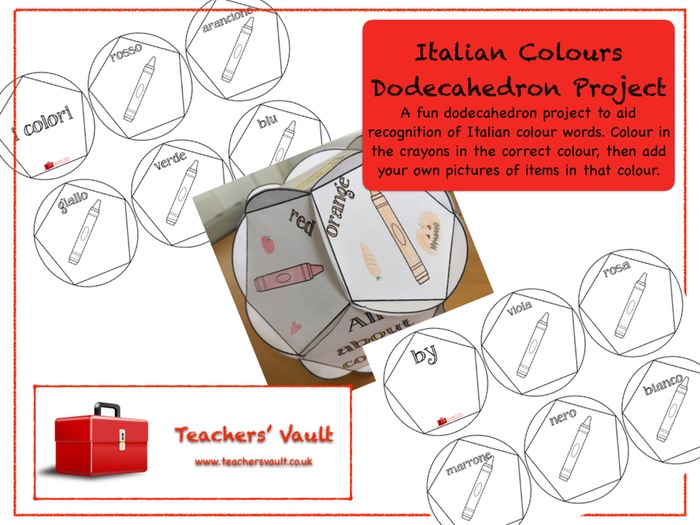 Italian Colours Dodecahedron Project