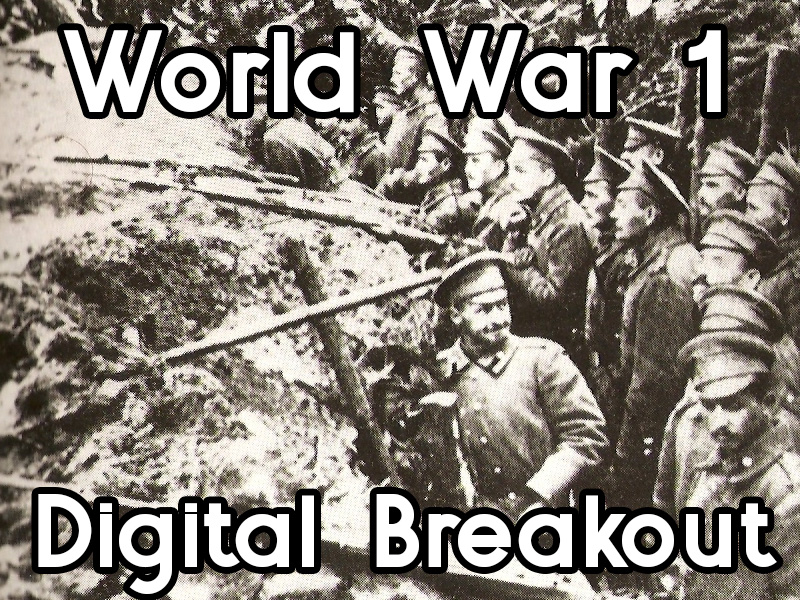 World War 1 - digital breakout game