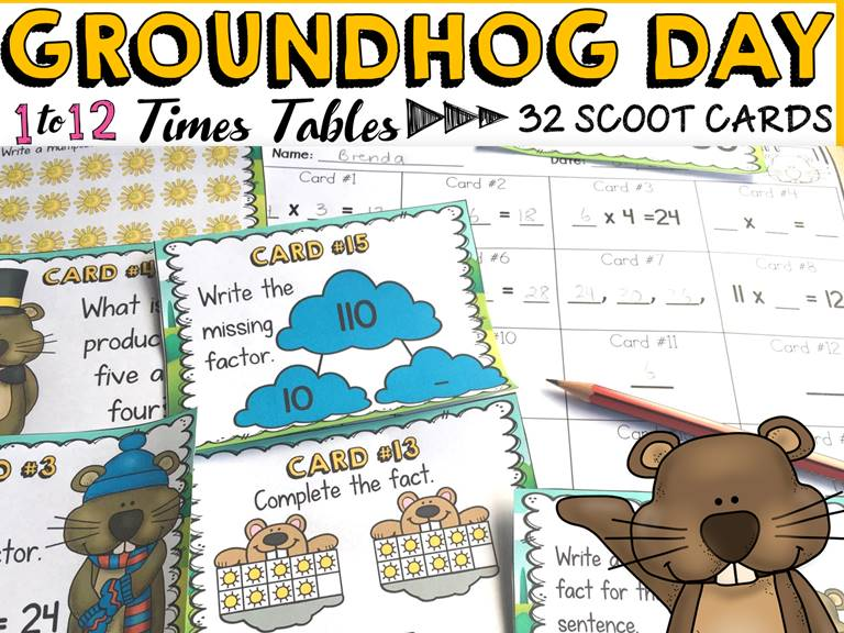 GROUNDHOG DAY MULTIPLICATION SCOOT