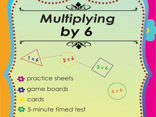 Multiplying by 6 - Multiplication Math Games and Lesson Plans