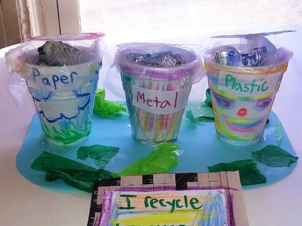 Earth Day Recycling Receptacles
