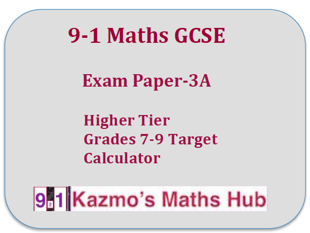 9-1 Maths Exam Paper -3A