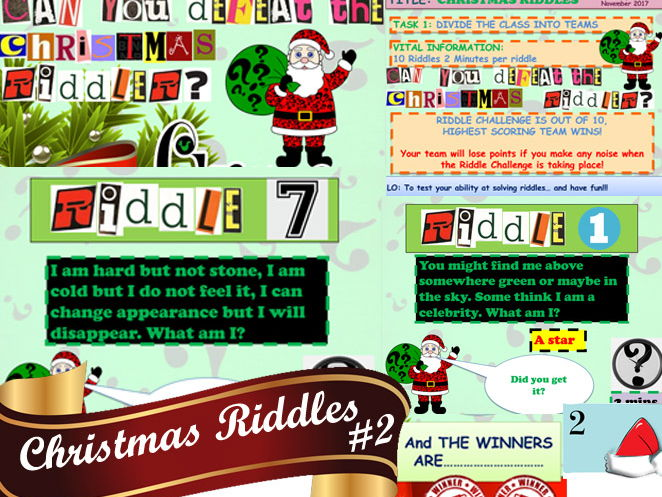 Christmas Riddle Bundle AMAZING VALUE 3