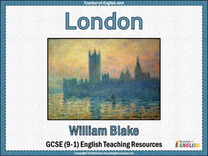 London William Blake (PowerPoint and worksheets)