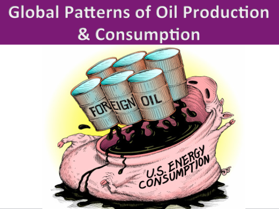 Global Patterns of Oil Production & Consumption: Online Lesson. Energy/Sustainability/Development