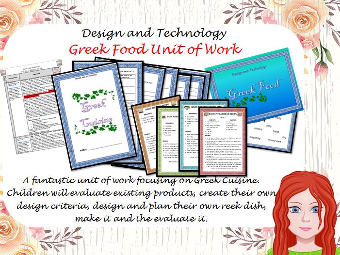 Design and Technology - Greek Food Unit of Work KS2