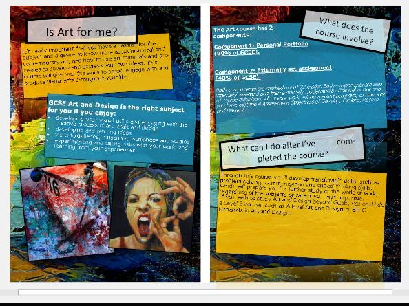 GCSE Art - Open Evening Information Booklet