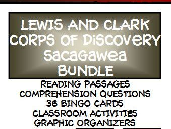 BUNDLE: LEWIS AND CLARK - Lesson, Reading Comprehension and Bingo