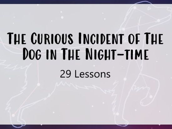 The Curious Incident of The Dog In The Nighttime Scheme of Work